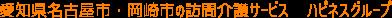 愛知県名古屋市・岡崎市の訪問介護サービス ハピネスグループ